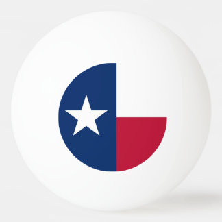 Special ping pong ball with Flag of Texas, USA