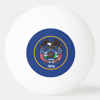 Special ping pong ball with Flag of Utah, USA