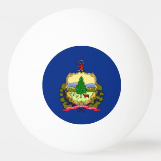 Special ping pong ball with Flag of Vermont, USA