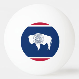 Special ping pong ball with Flag of Wyoming, USA