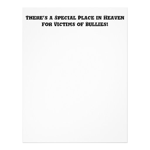 Special Place in Heaven for Victims of Bullies Custom Flyer