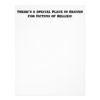 Special Place in Heaven for Victims of Bullies Personalized Flyer
