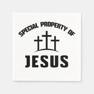 Special Property of Jesus Christian Paper Napkins