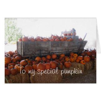 Special Pumpkin Card