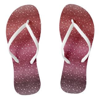 Special Red Custom Adult, Slim Straps Flip Flops