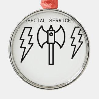 Special Service Metal Ornament