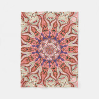 Special Seven Pinks Mandala Small Fleece Blanket