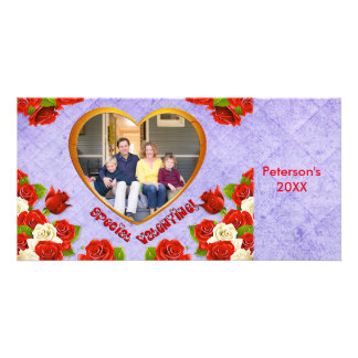 Special Valentine, Roses Heart Frame Photo Card