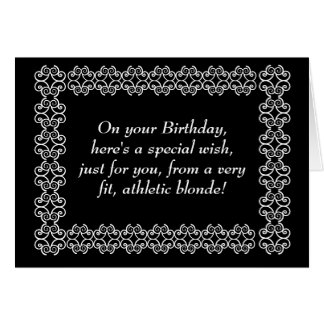 Special Wish from Athletic Blonde Card