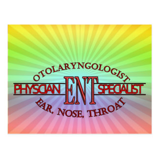 SPECIALIST ENT Otolaryngology Ear Nose Throat LOGO Postcard