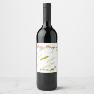 Specialized Create Your Own Wine Label