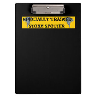 Specially Trained Storm Spotter Clipboard