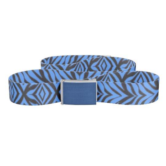 Specialty Designed Custom Belt (Blue Zebra)