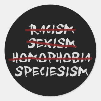 Speciesism Classic Round Sticker
