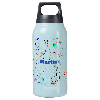 Speckled Abstract Art Insulated Water Bottle