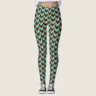 speckled chevron bold print leggings