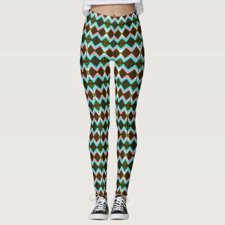speckled diamond bold print leggings