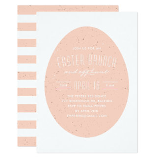 Speckled Egg Easter Invitation - Peach