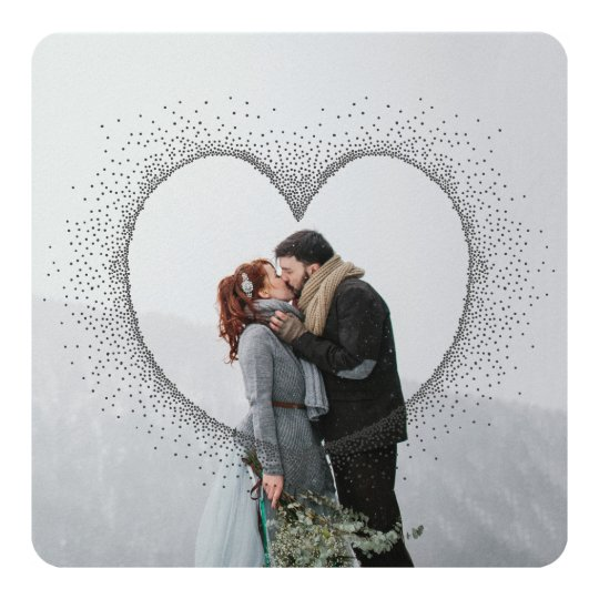 SPECKLED HEART CARD
