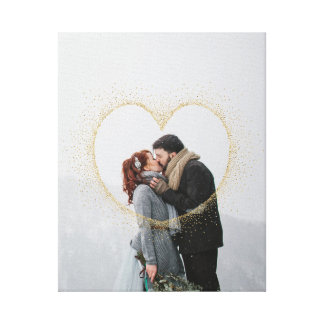 SPECKLED HEART GOLD CANVAS PRINT