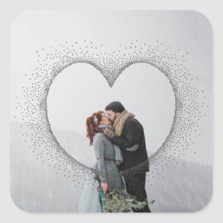 sPECKLED HEART Square Sticker