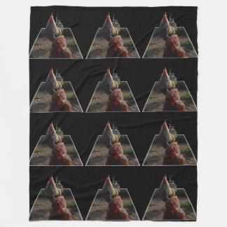 Speckled Rooster Popout Art, Lge Fleece Blanket.