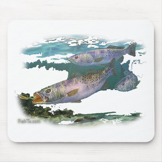 Speckled Trout Feeding Mouse Pad
