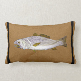 Speckled Trout Lumbar throw pillow