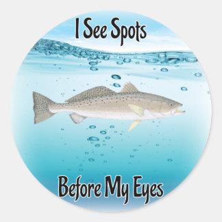 Speckled trout round sticker
