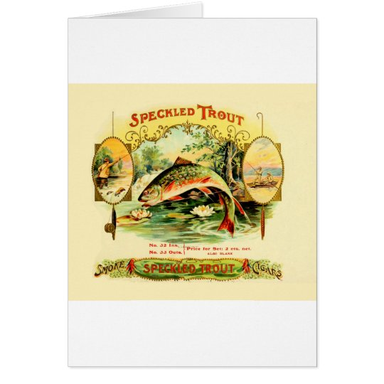 Speckled Trout Vintage Art Card
