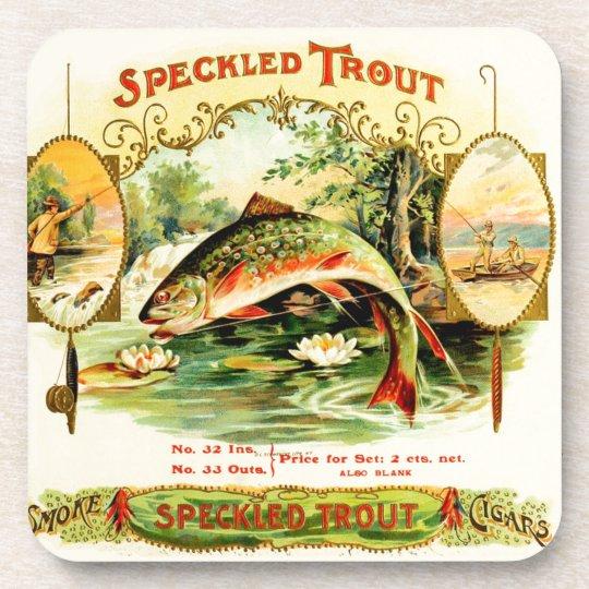 Speckled Trout Vintage Art Coaster
