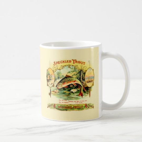 Speckled Trout Vintage Art Coffee Mug