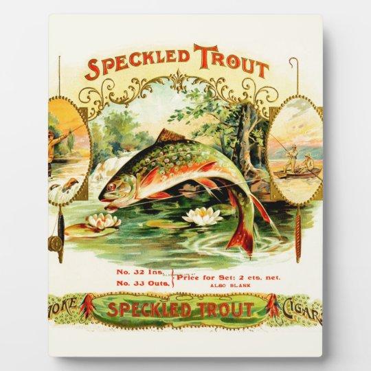 Speckled Trout Vintage Art Display Plaque