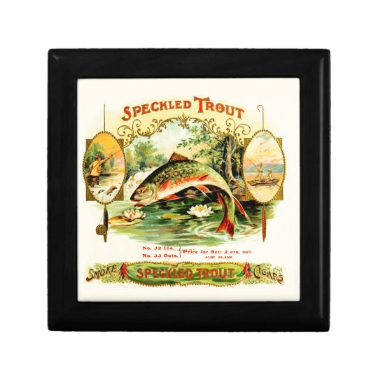 Speckled Trout Vintage Art Gift Box
