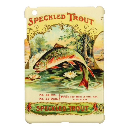 Speckled Trout Vintage Art iPad Mini Cover