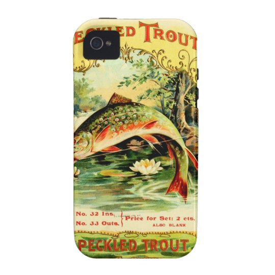 Speckled Trout Vintage Art iPhone 4/4S Cases