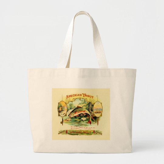 Speckled Trout Vintage Art Large Tote Bag
