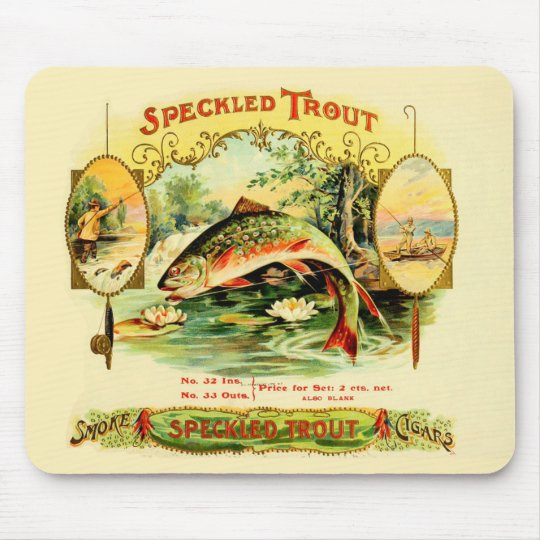 Speckled Trout Vintage Art Mouse Pad