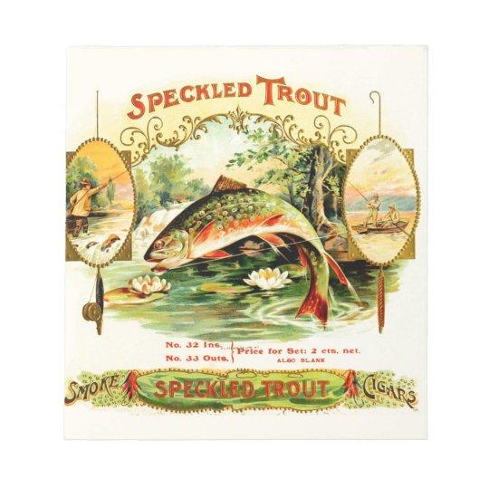 Speckled Trout Vintage Art Notepad