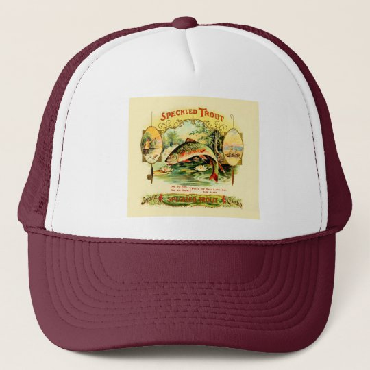 Speckled Trout Vintage Art Trucker Hat