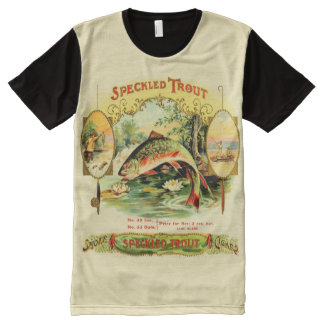 Speckled Trout Vintage Cigar Box Label All-Over-Print T-Shirt