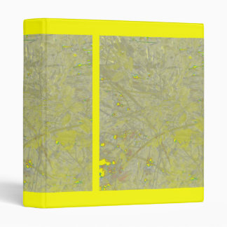 Speckled Yellow 3 Ring Binders