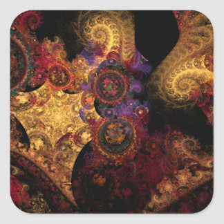 Spectacle Fractal Square Sticker
