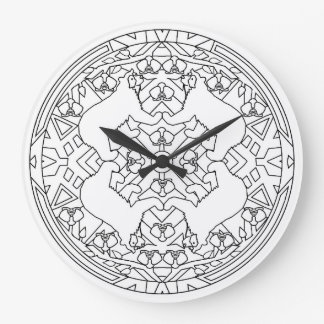Spectacled Bears Large Clock