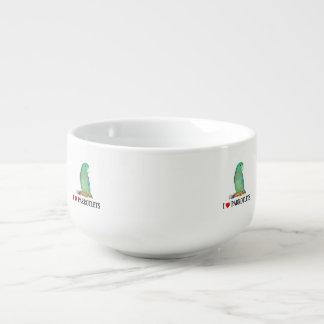 Spectacled parrotlet soup mug