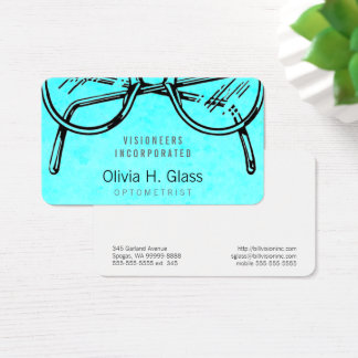 Spectacles Eyewear Optical Vision Watercolor Wash Business Card