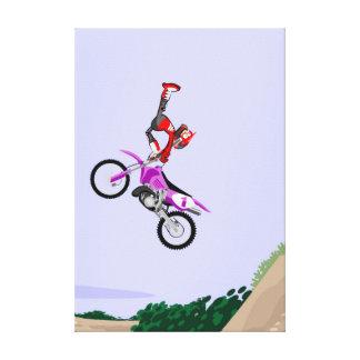 Spectacular acrobatics of motocross extreme canvas print