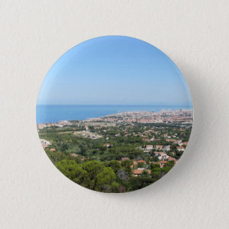 Spectacular aerial panorama of Livorno city 2 Inch Round Button