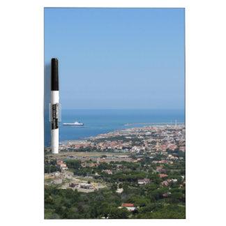 Spectacular aerial panorama of Livorno city Dry Erase Boards