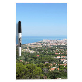Spectacular aerial panorama of Livorno city Dry-Erase Whiteboard